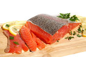 Fresh salmon steak — Stock Photo