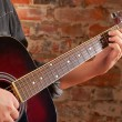 Royalty-Free Stock Photo: Playing on acoustic guitar