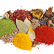 Piles of spices - Foto Stock
