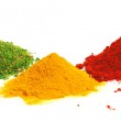 Piles of color spices — Stock Photo