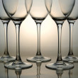 Stock Photo: Empty wine glasses
