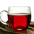 Cup of roibos fruit tea — Stock Photo