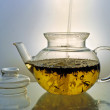 Stock Photo: Glass teapot