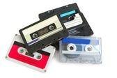 Group of cassette tapes — Stock Photo
