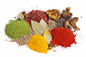 Piles of spices — Stock Photo