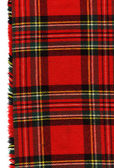 Red scottish plaid — Stock Photo