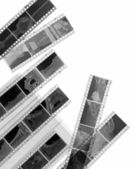 Black and white negative film — Stock Photo