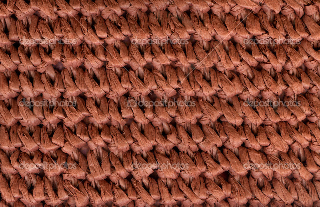 Red natural basket weave texture  Stock Photo #2609623