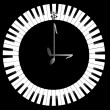 Stock Photo: Clock-Piano