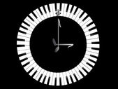 Clock-Piano — Stock Photo