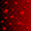 Stock Photo: Hearts on a abstract background
