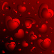 A lot of red hearts — Stock Photo