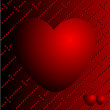 Hearts on a red background — Stock Photo