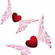 Two flying hearts — Stock Photo