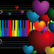 Stock Photo: Color keys and hearts
