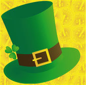 Green hat and coins — Stock Photo