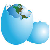 Planet the Earth in egg — Stock Photo