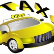 Stock Photo: Yellow taxi