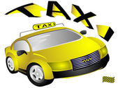 The yellow taxi — Stock Photo