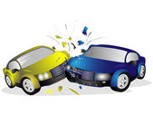 Collision of cars — Stock Photo