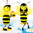 The bees — Stock Photo