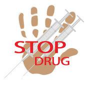 Stop drug — Stock Photo