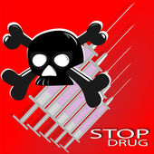 The poster against drugs — Stock Photo