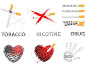 Cigarettes and drugs — Vettoriale Stock