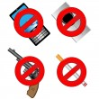 Постер, плакат: Collection of prohibiting sign