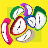 Clock color — Stock Photo