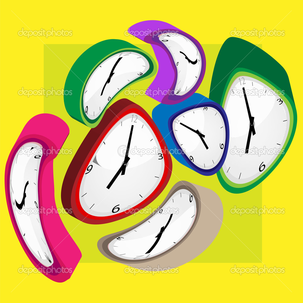 Clock color on light background — Stock Photo #2508413
