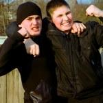 portret dwóch chłopców — Zdjęcie stockowe