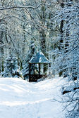 Winter summerhouse — Stock Photo