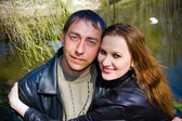 Couple closeup — Stock Photo