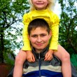 Stockfoto: Young man and little girl