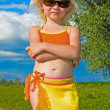 Small girl in sunglasses — Stock Photo