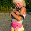 Little girl with kitten — Stock Photo #1044564