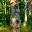 Wooden idol - Stock Photo