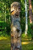 Wooden idol — Stock Photo