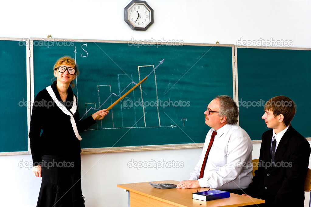 Farcical scene in the classroom — Stock Photo #1042922