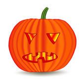 Halloween pumpkin — Vector de stock