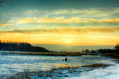 冬天的晚上 — 图库照片