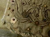Green textile texture — Stock Photo