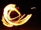 Fire's tail — Stock Photo
