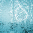 Foto Stock: Hoarfrost on glass