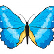 Royalty-Free Stock Vector Image: Blue butterfly