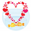 Fish's love — Stock Vector