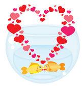 Fish's love — Stock Vector