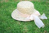 Hat on the grass — Stock Photo