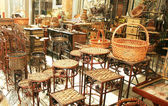 Decorative bamboo furniture — ストック写真